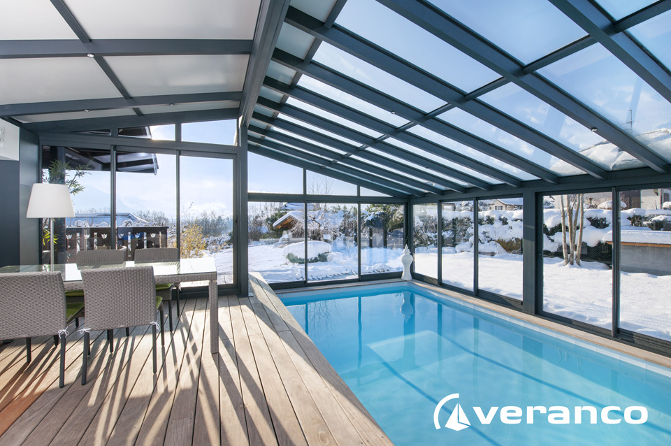 V randa piscine veranda co for Veranda pour piscine prix